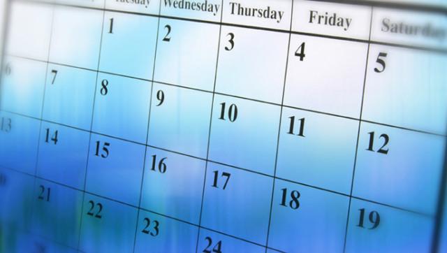 DCP Calendar